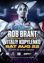"August 22: Rob Brant-Vitaliy Kopylenko and the Return of ""Cassius"" Clay Collard Set for Eleider Alvarez-Joe Smith Jr. Card Exclusively on ESPN+"