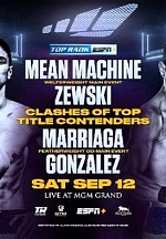 "Mean Machine-Zewski & Marriaga-Gonzalez Set for ESPN+ Card Live From MGM Grand ""Bubble"" September 12"