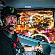 Kurt Busch Celebrates NASCAR Win with Flight Over Las Vegas Strip