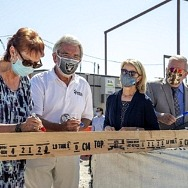 Opportunity Village Celebrates Future Site of Betty's Village with Beam Signing Event