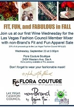 Fit, Fabulous and Fall Event at Flora Couture, to Support Las Vegas Fashion Council, Sept. 23