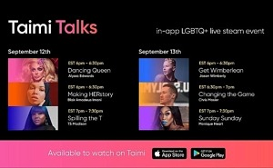 TAIMI Talks –The First Streaming in-app Event Featuring Top LGBTQ+ Celebrities, Athletes, and Models – Kicks Off This Week
