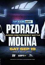 "September 19: Jose Pedraza-Javier Molina Junior Welterweight Battle to Stream Live and Exclusively on ESPN+ Inside the MGM Grand Las Vegas ""Bubble"""