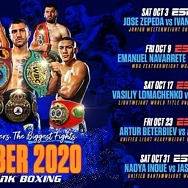 October Star Power: Vasiliy Lomachenko-Teofimo Lopez, Naoya Inoue-Jason Moloney and Returns of Artur Beterbiev and Emanuel Navarrete Headline Monthlong Boxing on ESPN Platforms