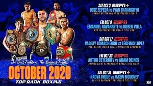 October Star Power: Vasiliy Lomachenko-Teofimo Lopez, Naoya Inoue-Jason Moloney and Returns of Artur Beterbiev and Emanuel Navarrete Headline Monthlong Boxing on ESPN Platforms