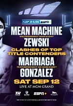 unnamedMean Machine-Zewski and Marriaga-Gonzalez to headline bill from the MGM Grand Las Vegas this Saturday, LIVE on ESPN+ (7:30 p.m. ET)