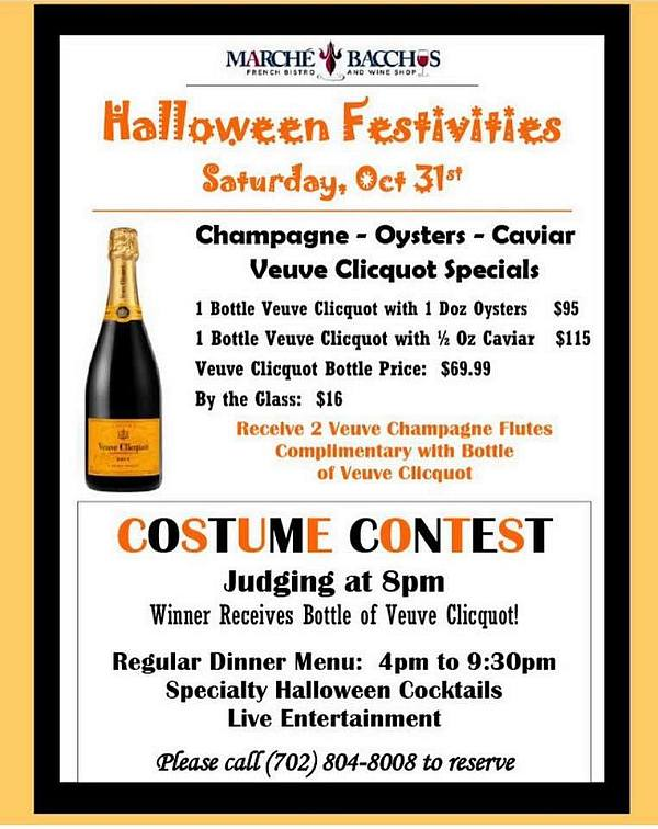 Marche Bacchus Halloween Dinner Party