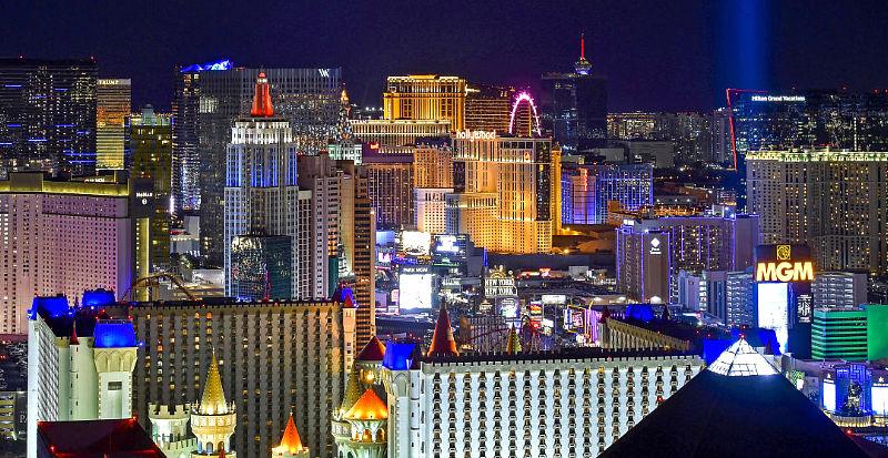 TheLasVegasStripseen lookingnorthfromtheSkyfall Lounge a top the Delano Las Vegas Monday, Dec. 31, 2018, in Las Vegas. (David Becker/Las Vegas News Bureau)