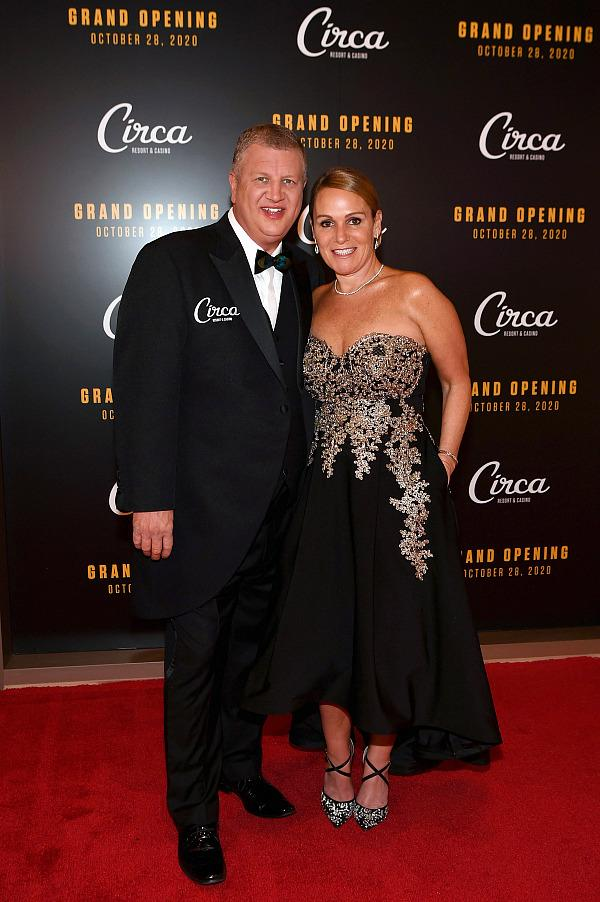 CEO Derek Stevens and wife Nicole at Circa Resort & Casino's grand opening