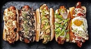 Joy of Hot Dog Reopens Downtown with New Menu; Items and Art Installation by Liquid PXL
