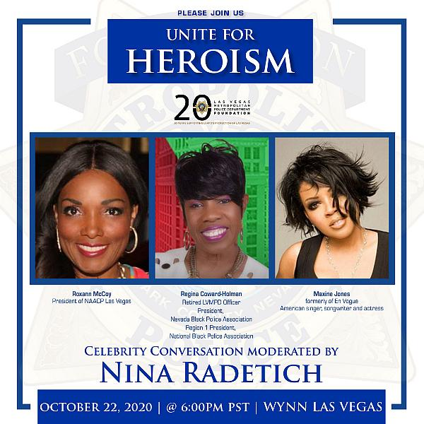 Join LVMPD Foundation to Unite for Heroism October 22; Celebrity Panel to Discuss Community Safety and Inclusivity at Inaugural Fundraising Event