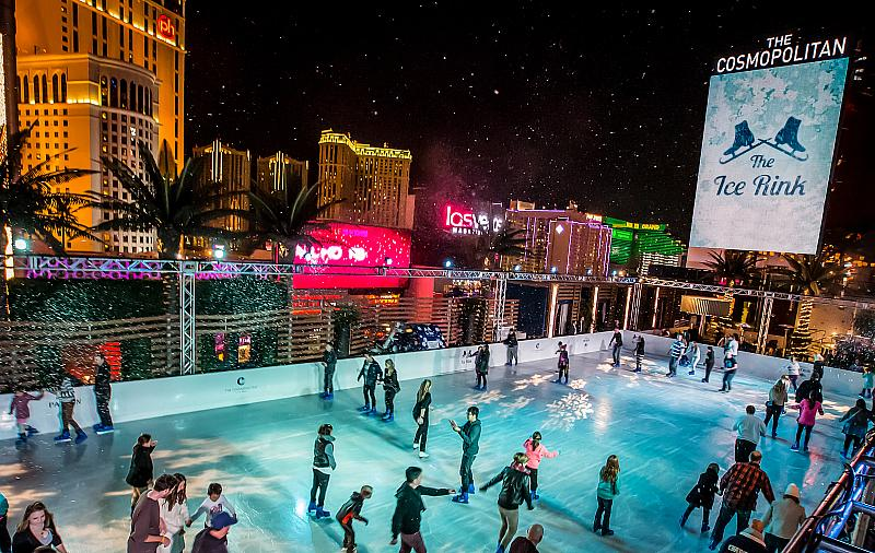 The Cosmopolitan of Las Vegas Will Welcome Back the Ice Rink for Its Ninth Holiday Season, Nov. 18