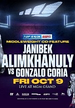 October 9: Janibek Alimkhanuly-Gonzalo Coria, Joseph Adorno-Avery Sparrow and Elvis Rodriguez Added to Emanuel Navarrete-Ruben Villa Card
