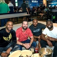Former Professional Football Players Spotted at The Book at The LINQ Hotel + Experience