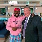 Floyd Mayweather Visits Stadium Swim at Circa Resort & Casino