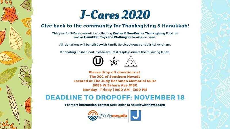 Jewish Nevada Hosts Food Drive for Thanksgiving Holiday