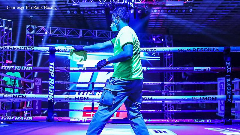 Invited Guests Attend Top Rank Boxing at MGM Grand