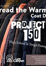 Lee Canyon's Spread the Warmth Coat & Sock Drive for Project 150 Ends Nov. 18, 2020
