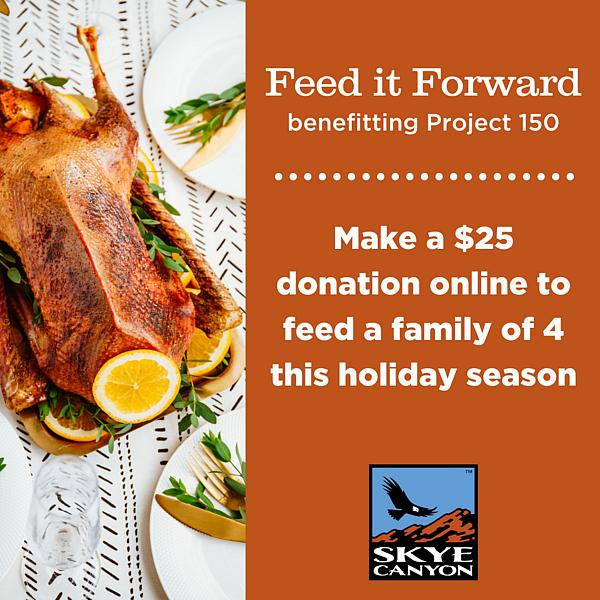 Skye Canyon Partners with Project 150 to FEED IT FORWARD this Holiday Season