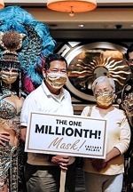 Caesars Palace Celebrates Its One Millionth Mask Recipients with Commemorative Gold Masks and More