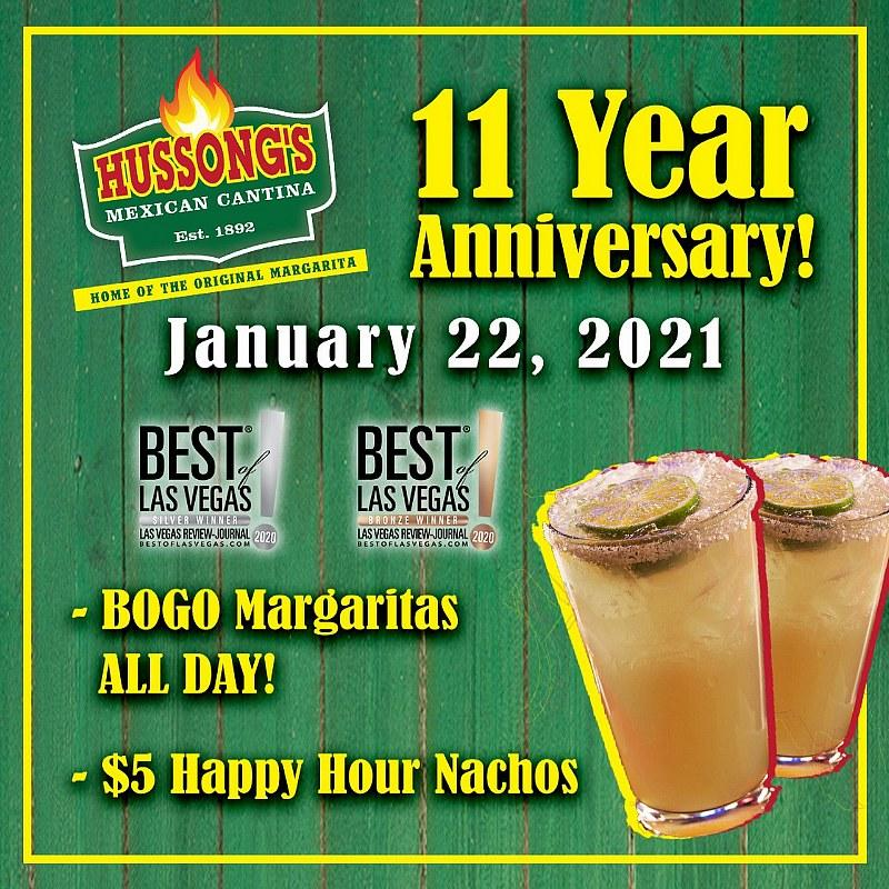 Hussongs Celebrates 11-Year Anniversary