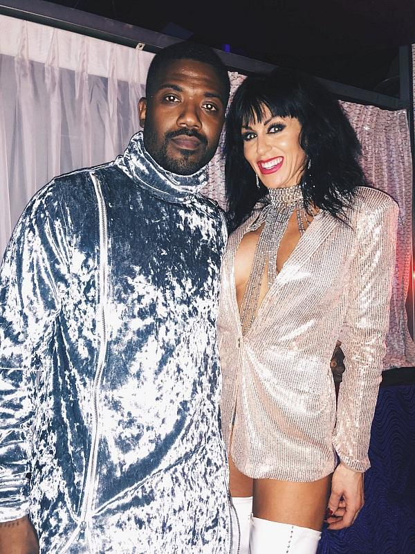 Ray J poses for a photo with Sexxy After Dark Producer and Choreographer Jennifer Romas (photo credit: Fan Managers)