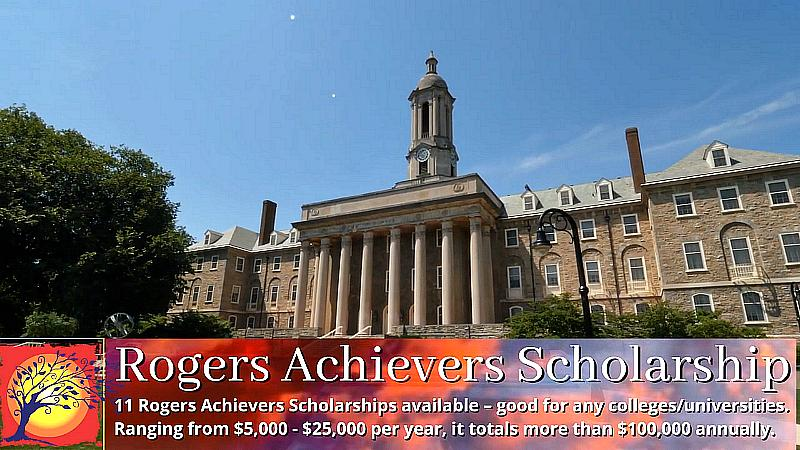 There's Still Time to Apply for Nearly Two Million Dollars in College Scholarships From the Rogers Foundation