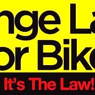 "LVCM Launches ""Change Lanes for Bikes. It's the Law!"" Public Awareness Campaign"