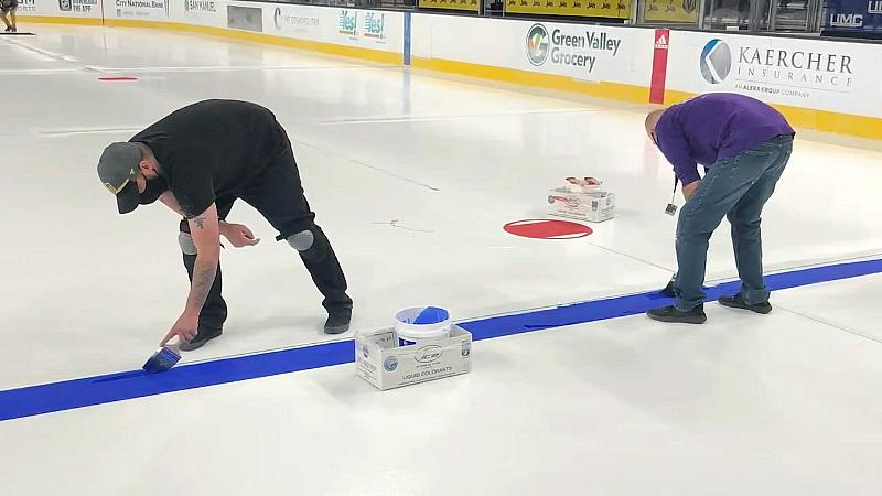 The staff at T-Mobile Arena in Las Vegas has been hard at work, preparing the ice for this week's return of hockey
