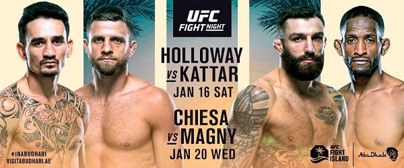 UFC Kicks off Return to UFC Fight Island With Two Action-Packed Fight Nights January 16 & 20