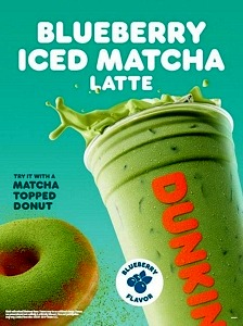 More Matcha on the Menu: Dunkin' Debuts Blueberry Matcha Latte and New Matcha Topped Donut