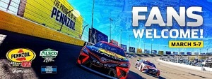 LVMS Approved to Host Fans for March 5-7 NASCAR Weekend