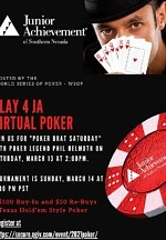 "Virtual Poker Tournament with ""Poker Brat"" Phil Hellmuth to Benefit Junior Achievement of Southern Nevada Mar. 13-14"