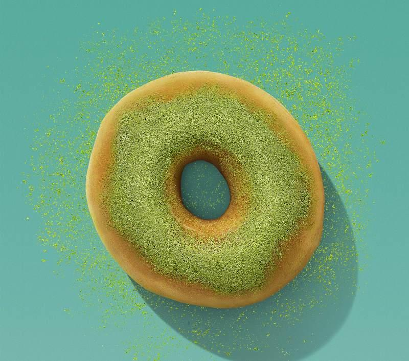 Matcha Topped Donut.