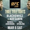 UFC 259 Headlined by Three Thrilling World Championship Bouts