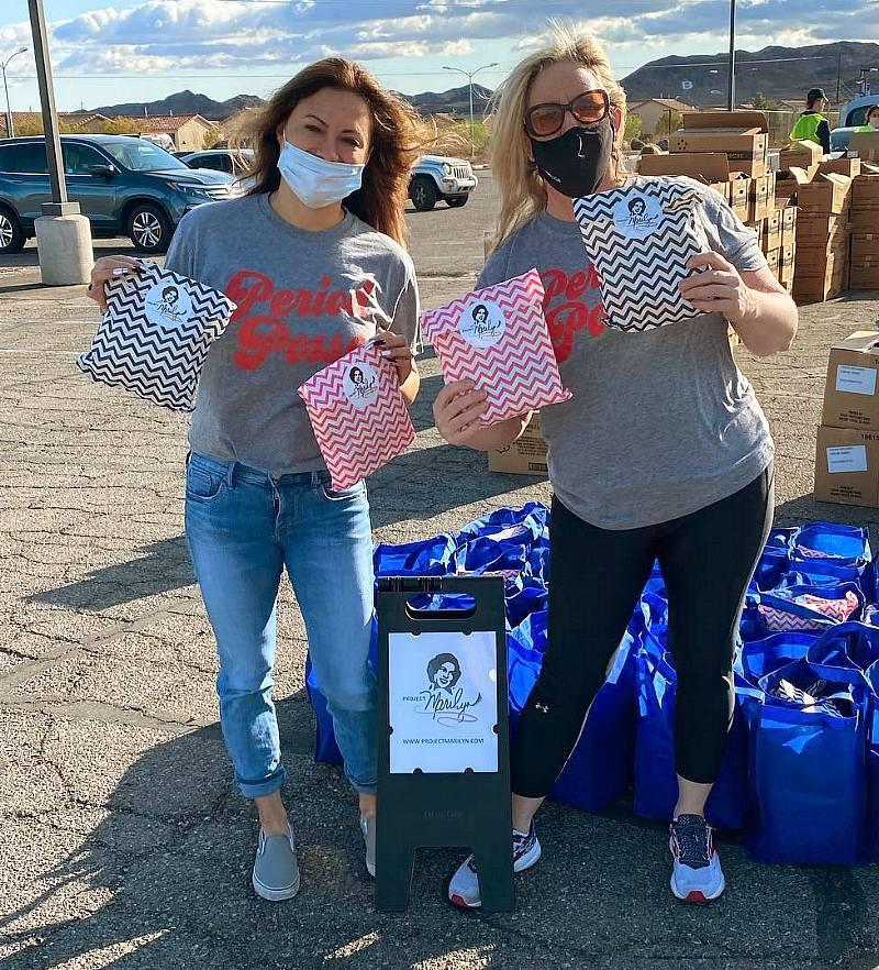 """Non-Profit Project Marilyn Distributes Hygiene Products at Several """"Pop Up and Give"""" Locations in the Community"""