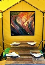 Esther's Kitchen Launches Local Art Display In Dining Tents