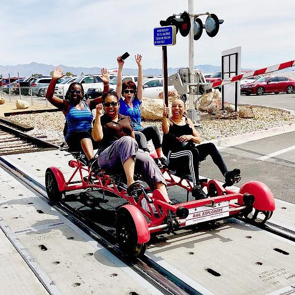 Rail Explorers Welcomes The Nevada Blind Children's Foundation To The Rails In Boulder City, Nevada, March 31