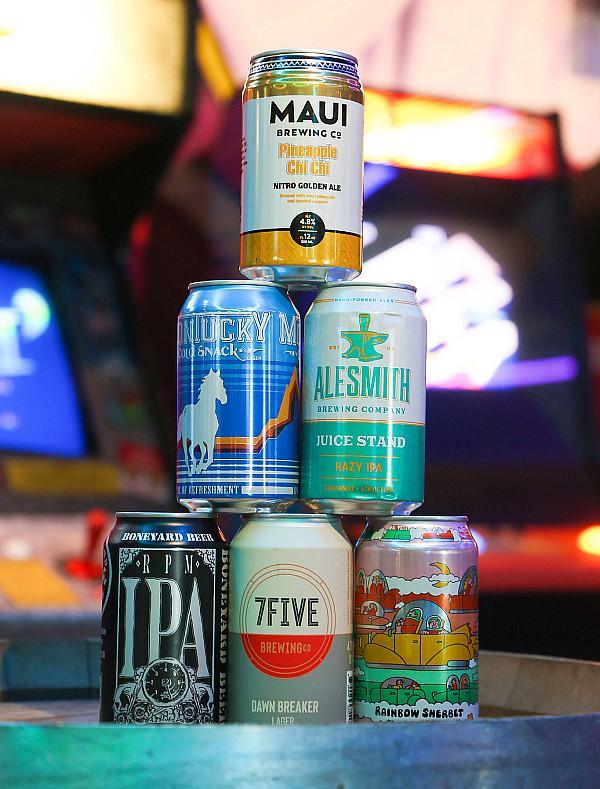 Beer at Emporium Arcade Bar Las Vegas