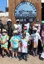 Nevada Blind Children's Foundation Spring Break Campers Ride The Rails At Rail Explorers