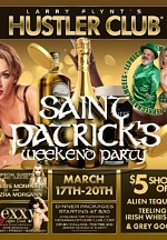 Larry Flynt's Hustler Club - Las Vegas Announces Roster of St. Patrick's Day Weekend Programming