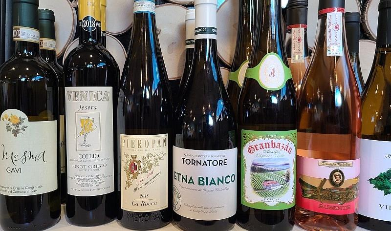 Ada's wine list includes whites, roses and reds from around the world