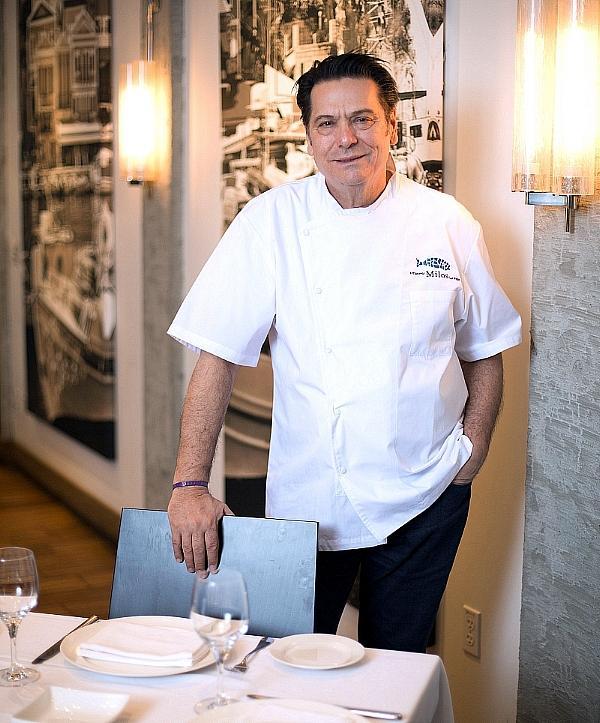 Chef Costas Spiliadis at Estiatorio Milos - Credit: Estiatorio Milos