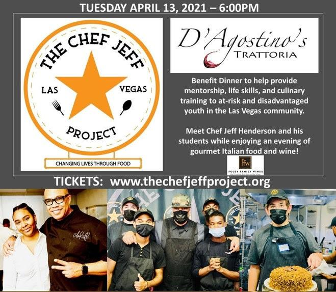 Gourmet Dinner Event Benefitting the Chef Jeff Project April 23