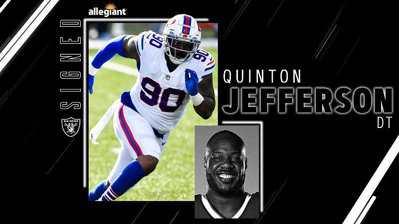 Raiders Sign DT Quinton Jefferson