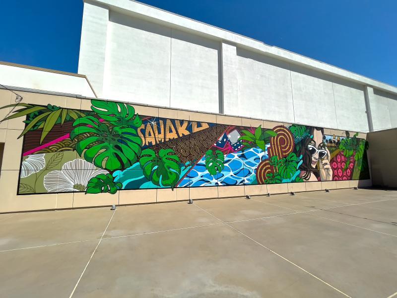 Sahara Las Vegas Debuts New Mural by Las Vegas-Native Artist Brett Rosepiler at Retro Pool