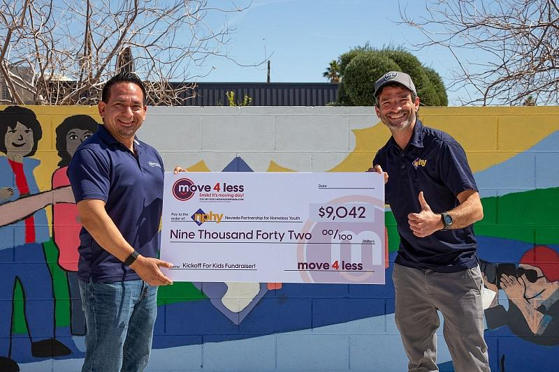 Move 4 Less Raises More Than $9,000 for Nevada Partnership for Homeless Youth through Kickoff for Kids