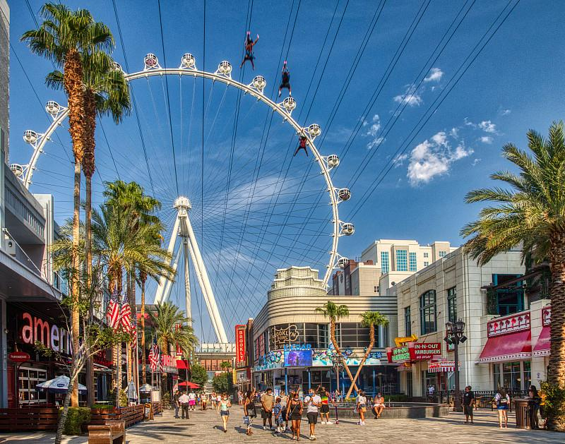 High Roller Observation Wheel, I LOVE SUGAR at The LINQ Promenade Celebrate First Responders on National Superhero Day, April 28
