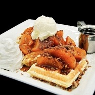 Start National Peach Cobbler Day with a Peach Cobbler Waffle at Distill and Remedy's April 13