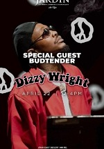 Jardin Premium Cannabis Dispensary Kicks Off Special Guest Budtender Series with Rapper Dizzy Wright April 22